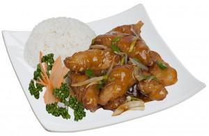 M19. Kuře speciality, rýže - 85 Kč