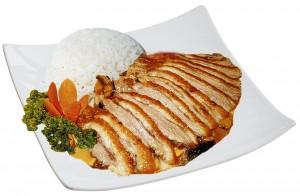 M43. Kachna se zeleninou, rýže - 105 Kč