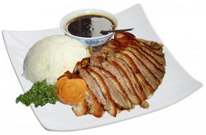 M45. Voňavá a křehká kachna, salát, rýže - 109 Kč