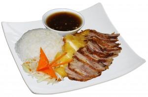 M58. Voňavé a křehké kuře a kachna, salát, rýže - 109 Kč